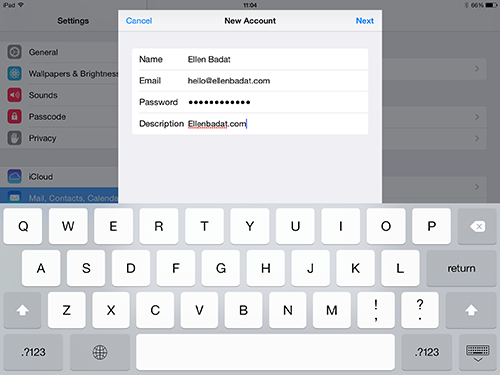 how to add ucalgary email to iphone host name