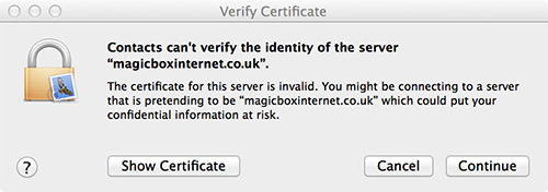 Mac Mail Certificate
