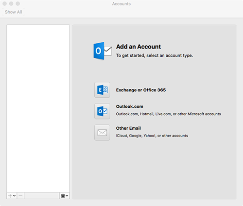 Outlook for Mac Account Added