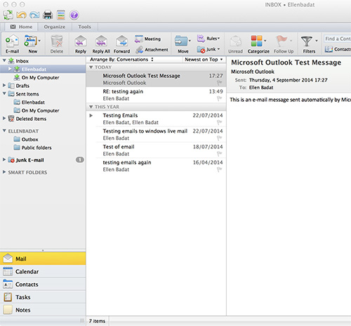how to add html to a outlook email on mac