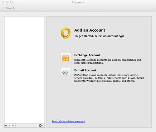 Outlook for Mac Add Account